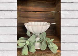 "6"" Fluted Raised Bowl"