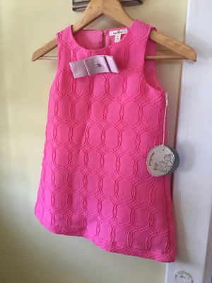 Girl shift dress in pink