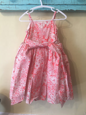 Girl twirl dress peach floral