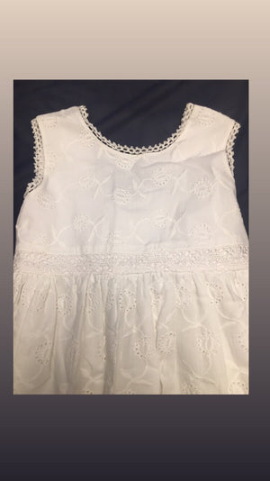 White lace dress eyelet