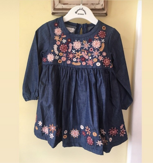 Girl embroidered dress