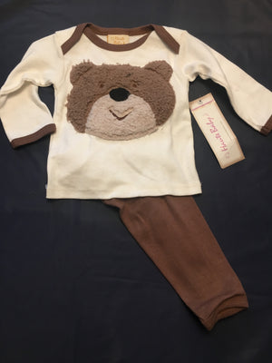 Baby Boy Bear legging set 3/6