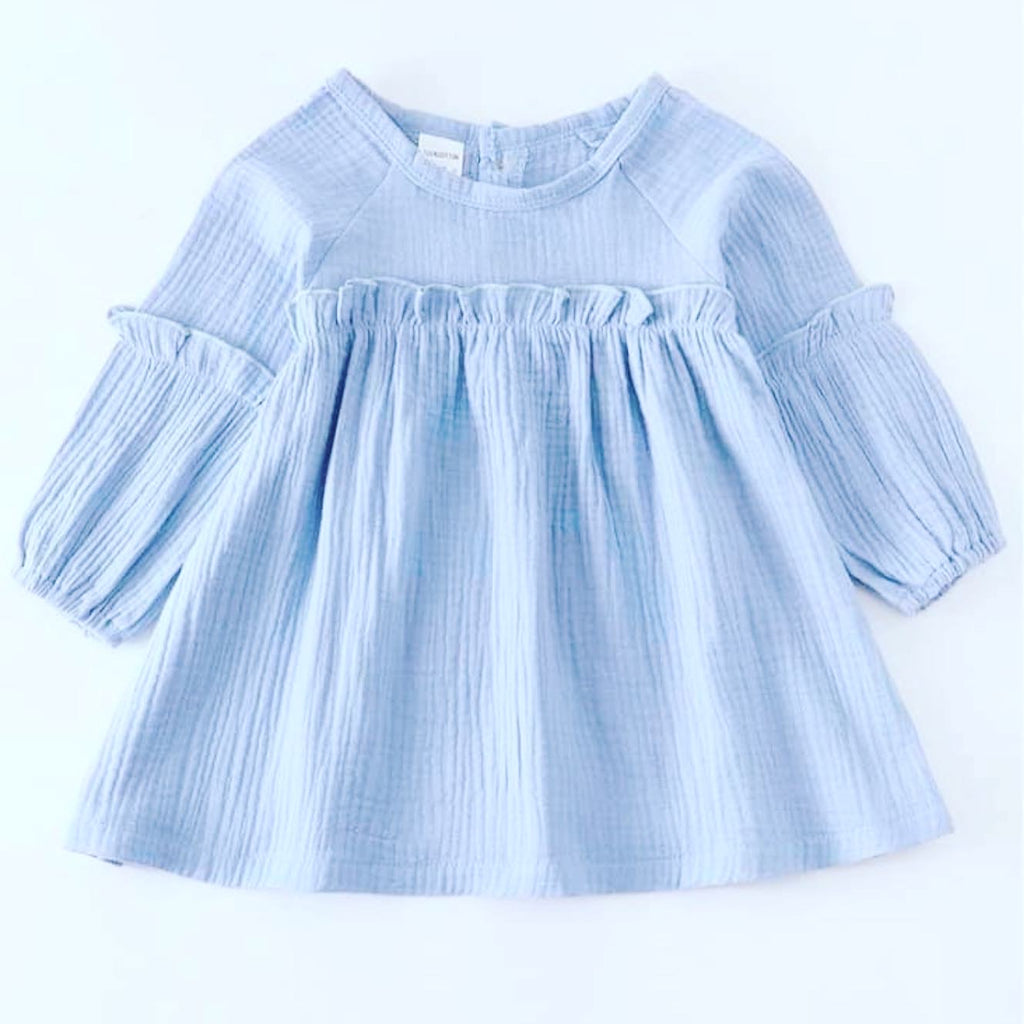 Toddler girl light blue dress