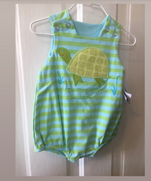 Bailey Boys Turtle Romper 9m