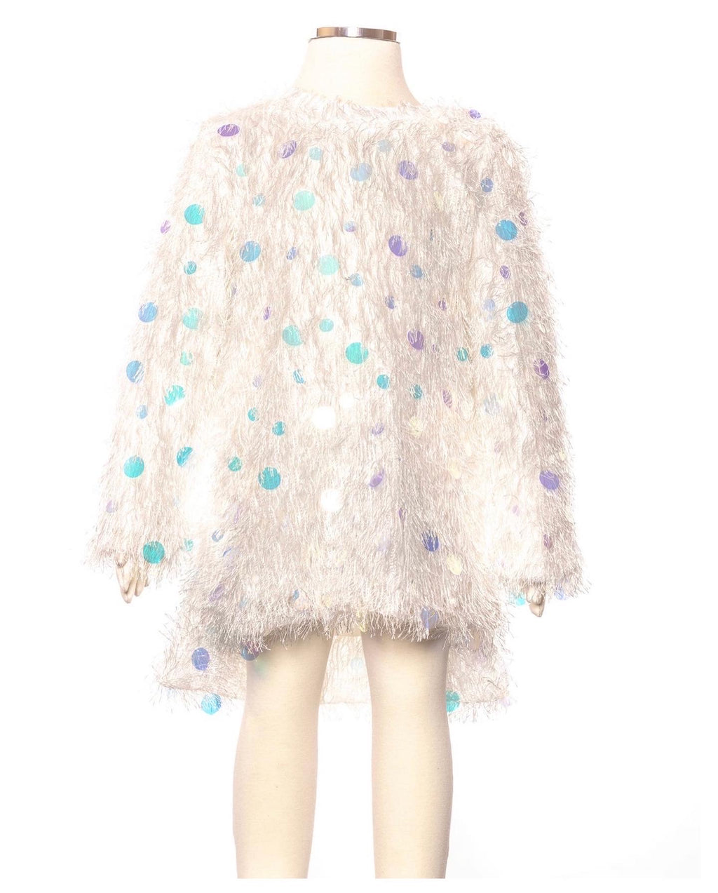 Girl sparkle fur dress