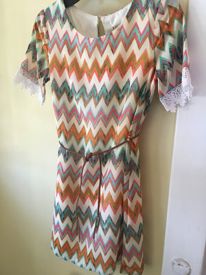 Girl orange chevron dress 7