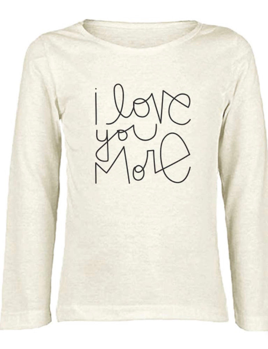 Kids organic long sleeve T-shirt I love you more