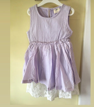 Girl lavender Dress with lace
