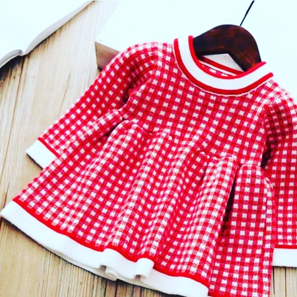 Baby Toddler Gingham Knit Dress