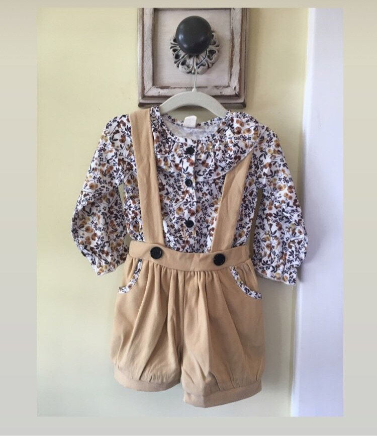 Girl floral romper set