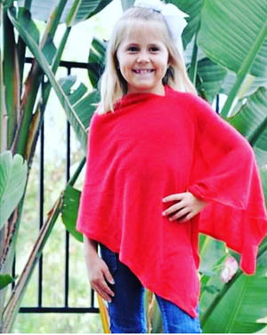 Girl sweater wrap poncho