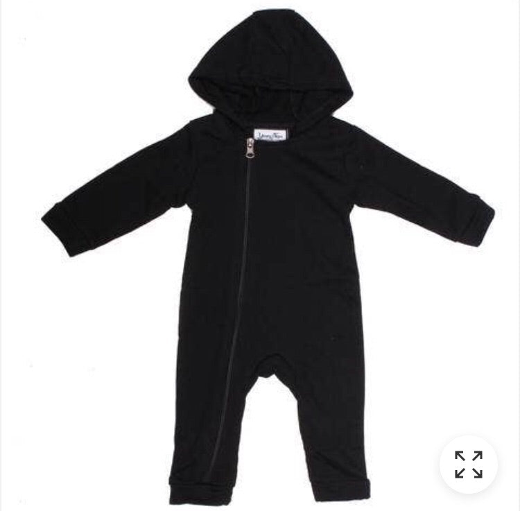 Grey cuddle suit (Black, Grey stripe)