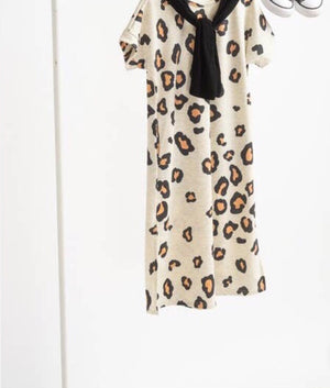 Girl leopard maxi dress