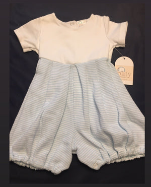 Baby Boy blue bubble romper