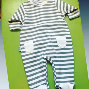 Baby boy girl Newborn striped romper sleeper