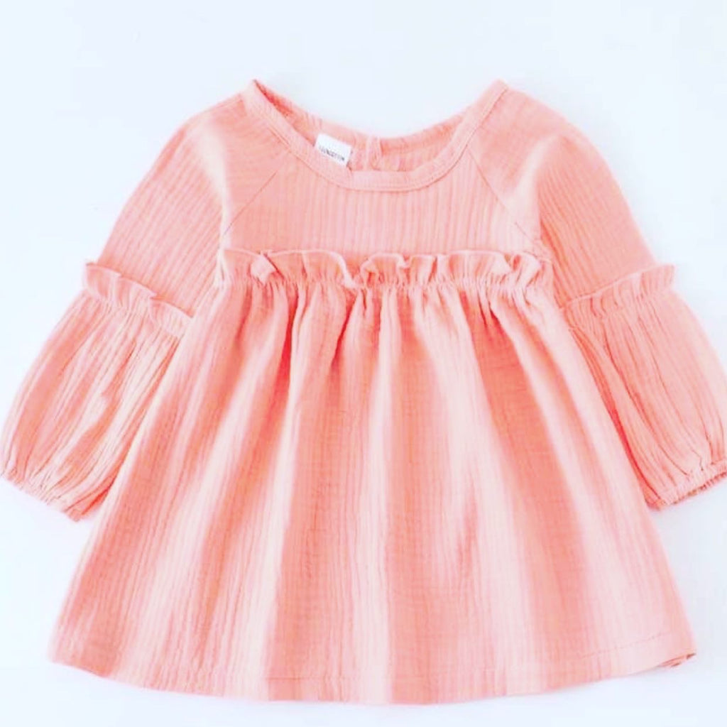 Toddler girl peach dress