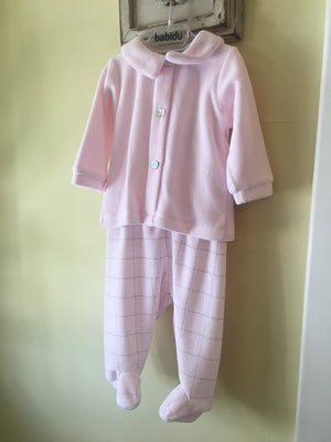Baby girl newborn velour outfit