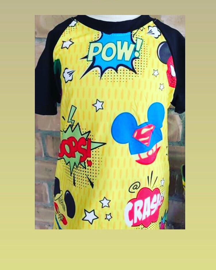 Boy superhero shirt