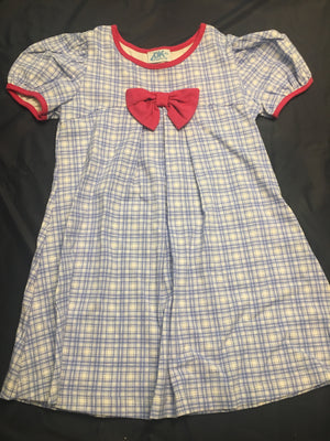 Girl blue plaid dress 6