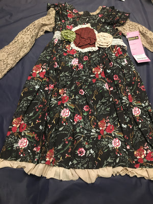 Girl lace floral dress 6