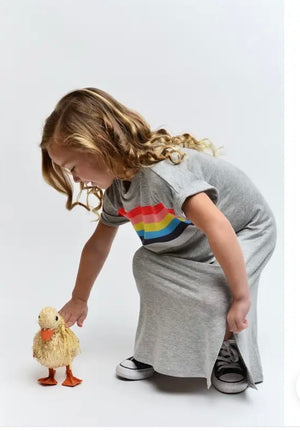 Girls rainbow maxi T-shirt dress