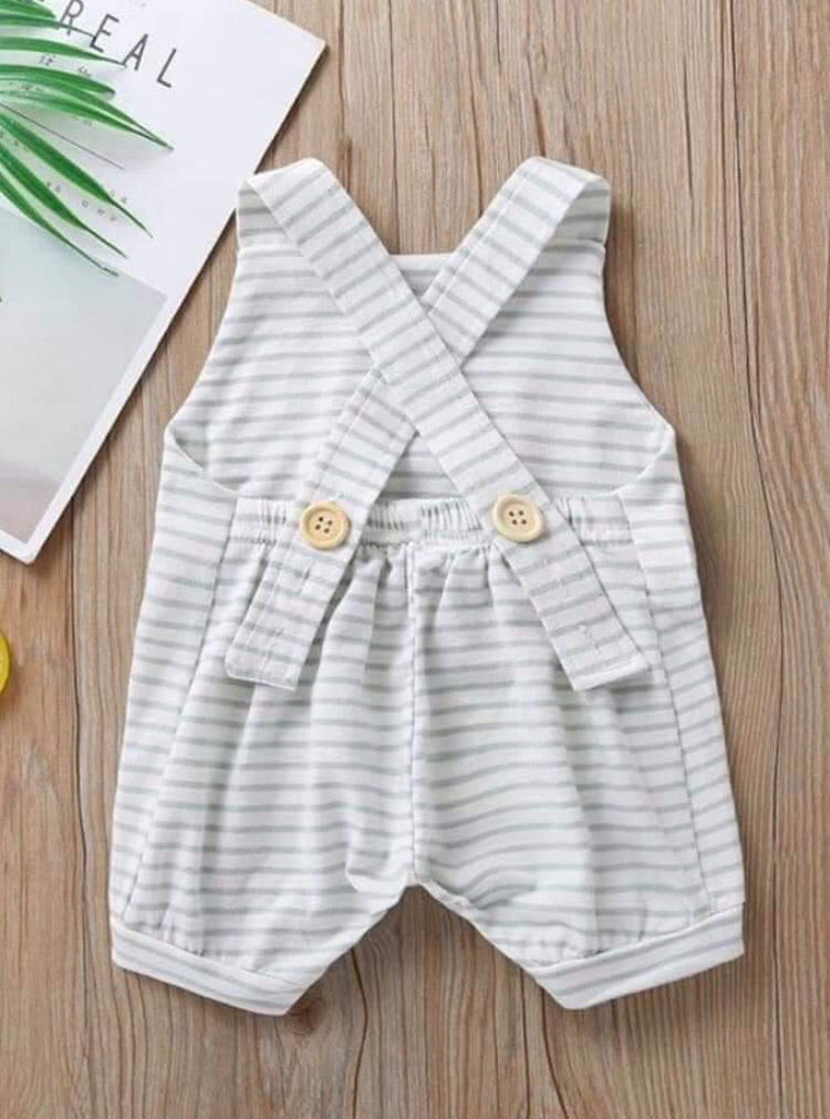 Baby boy striped romper (navy)