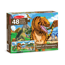 Load image into Gallery viewer, Land of Dinosaurs Floor Puzzle - 48 Pieces