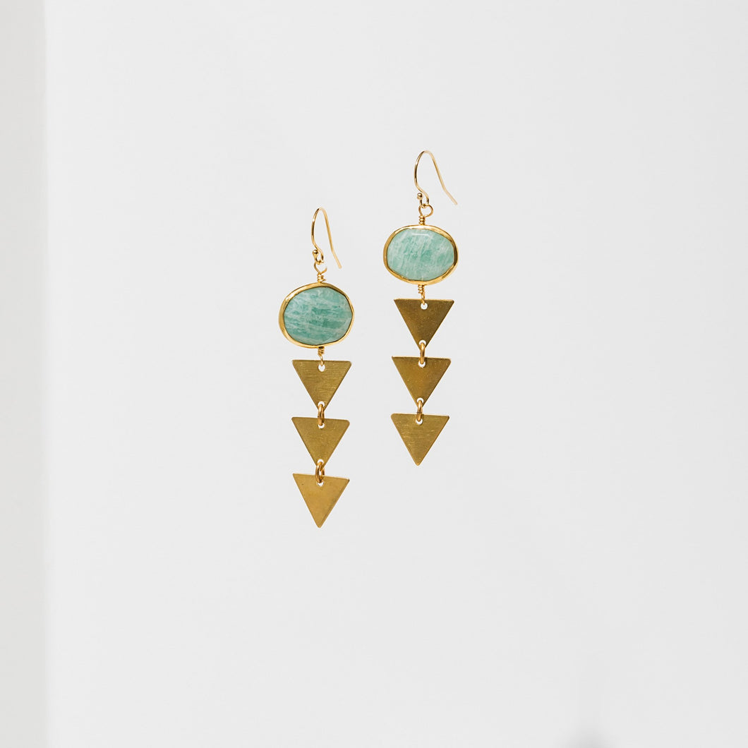 Larissa Loden Pasiphae Earrings - Amazonite