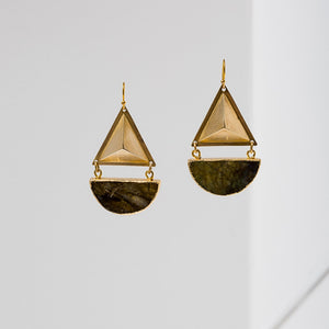 Larissa Loden Geo Earrings - Labradorite