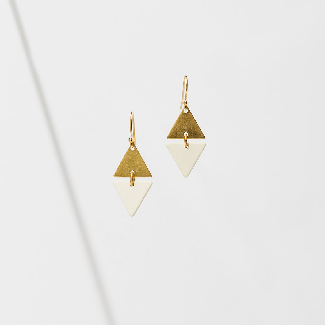 Larissa Loden Alta Earrings - Cream