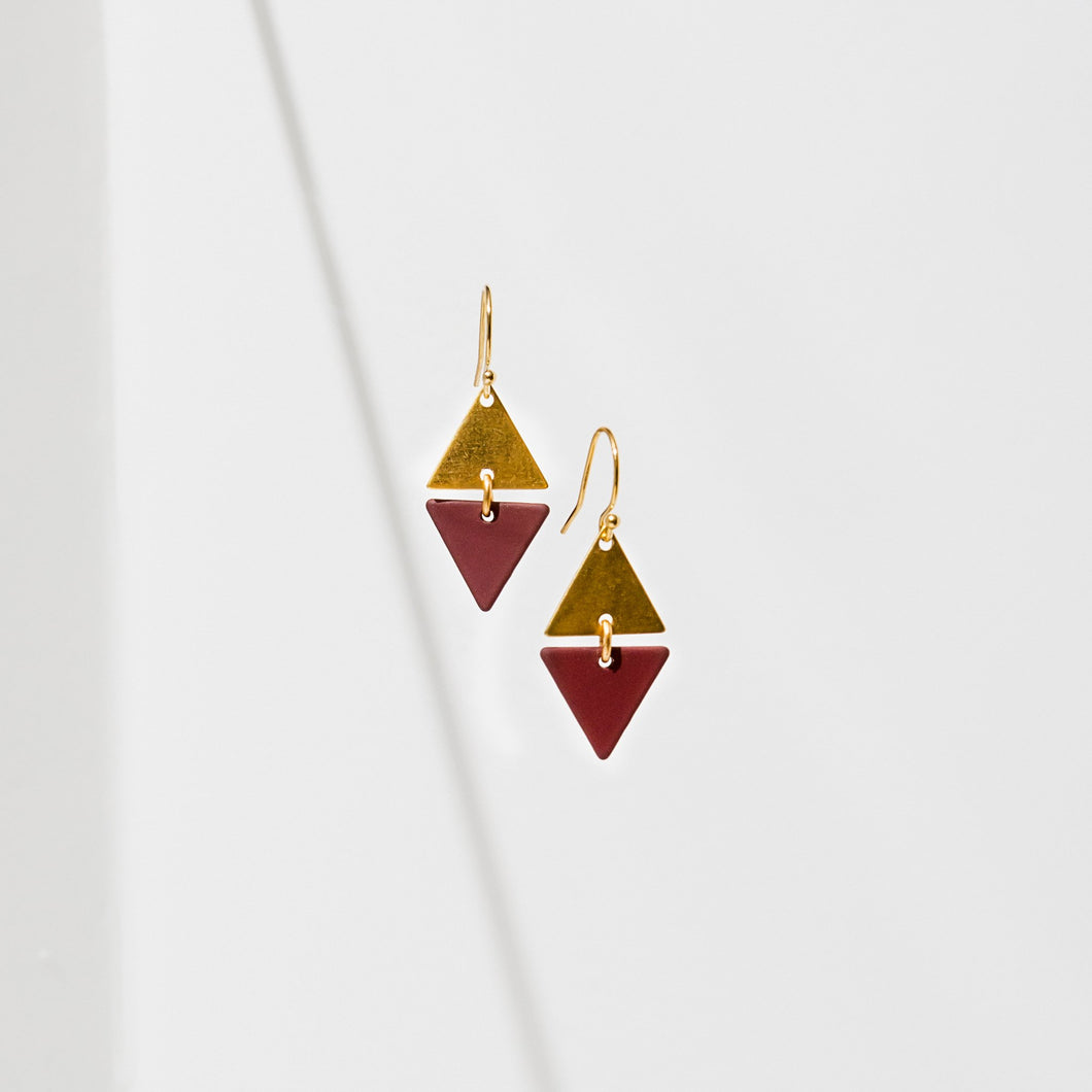 Larissa Loden Alta Earrings - Maroon