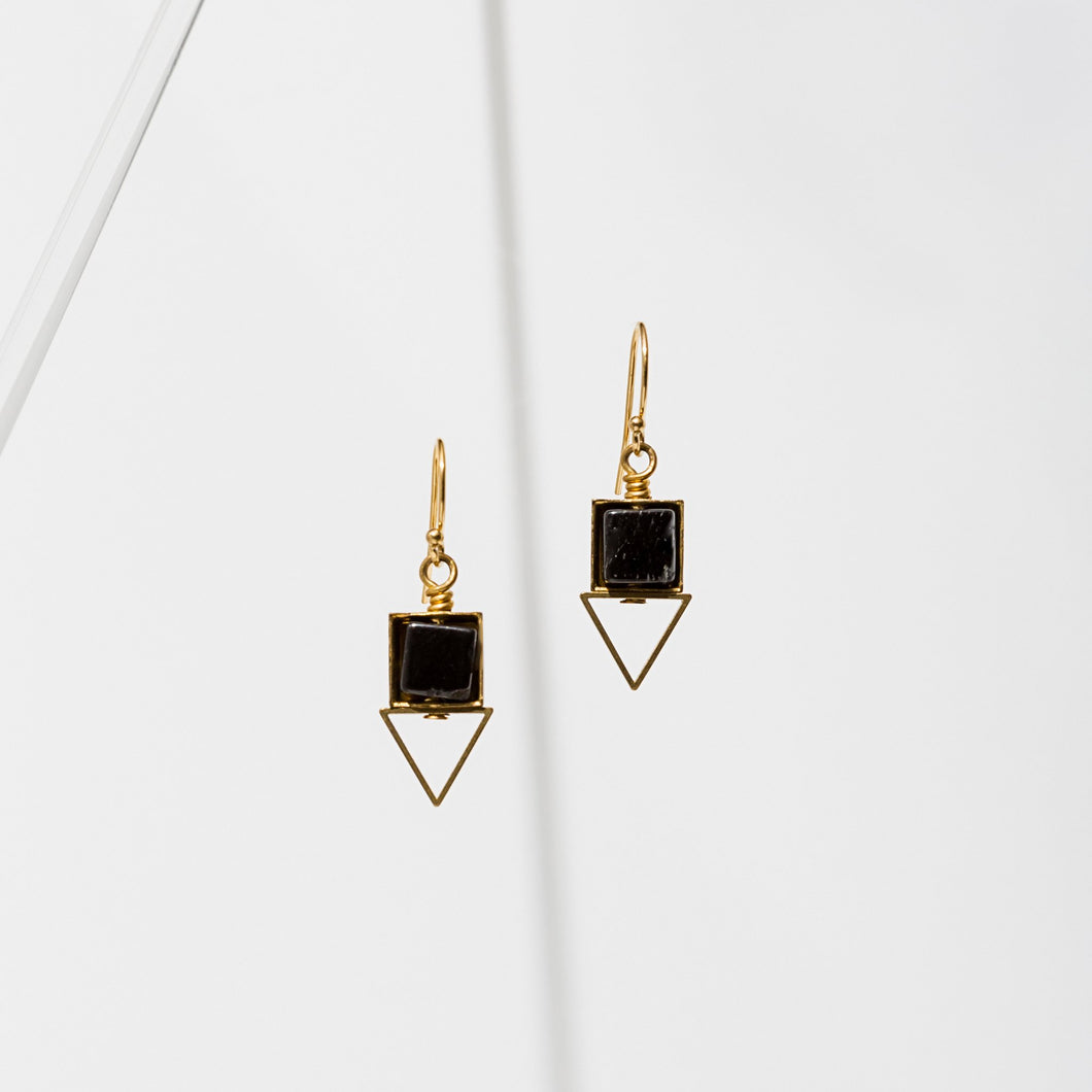 Larissa Loden Pique Earrings - Onyx