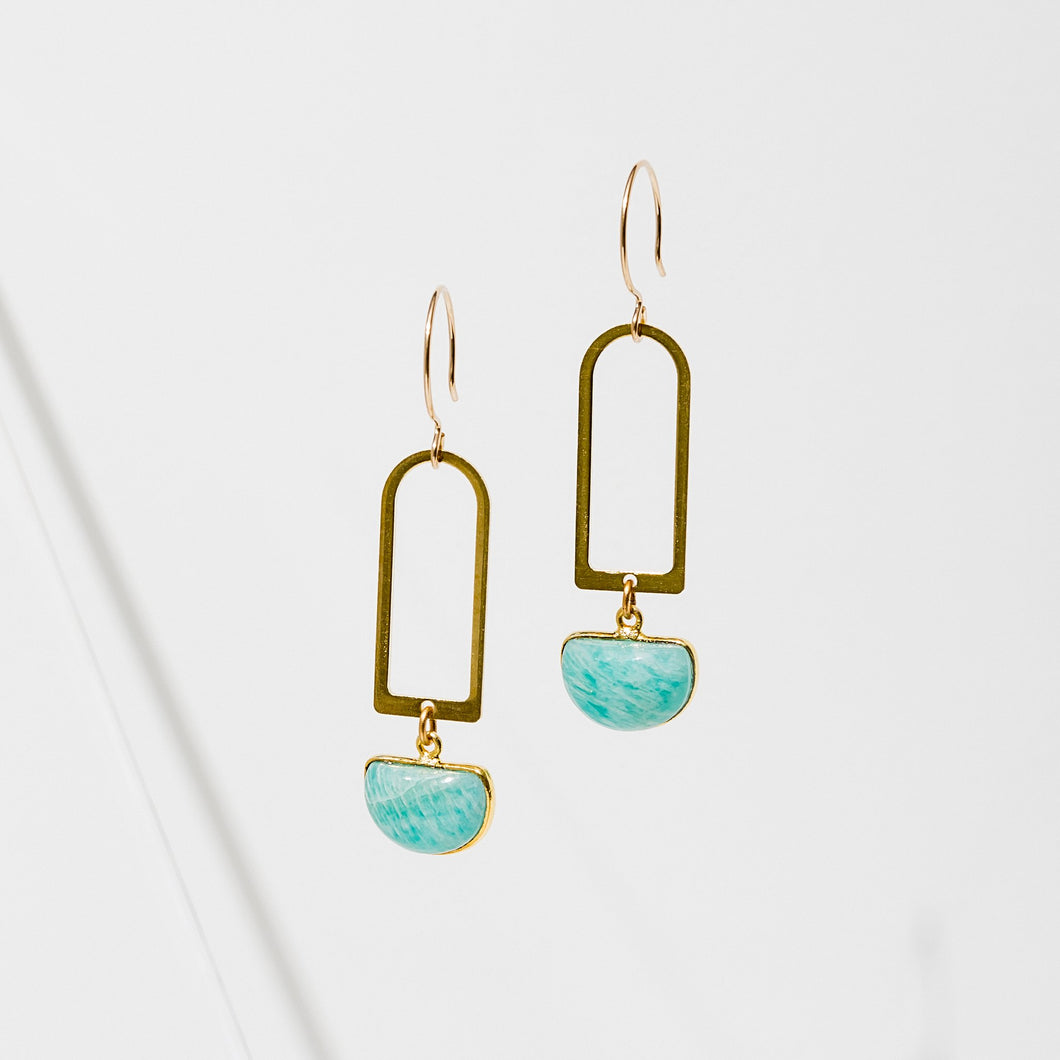 Larissa Loden Casablanca Earrings - Amazonite