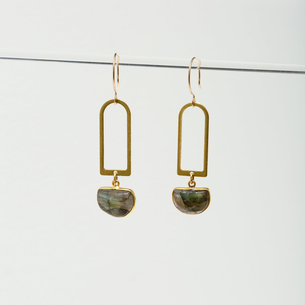 Larissa Loden Casablanca Earrings - Labradorite