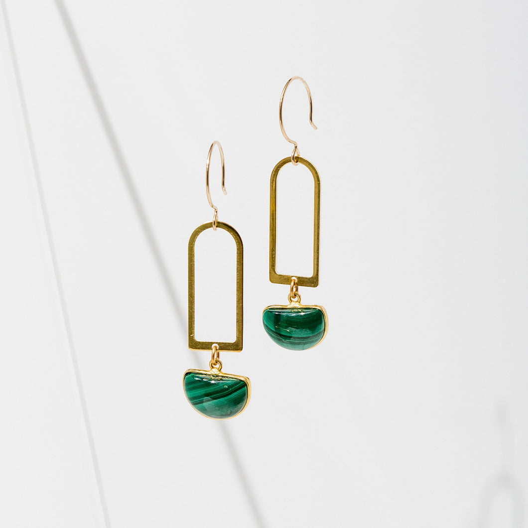 Larissa Loden Casablanca Earrings - Malachite