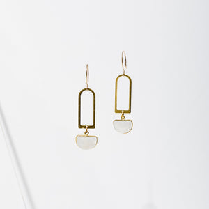 Larissa Loden Casablanca Earrings - Moonstone
