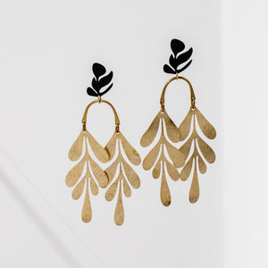 Larissa Loden Soirée Earrings - Black
