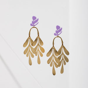 Larissa Loden Soirée Earrings - Purple