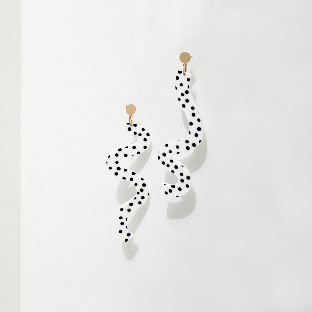 Larissa Loden + Ashley Mary Squiggle Earring