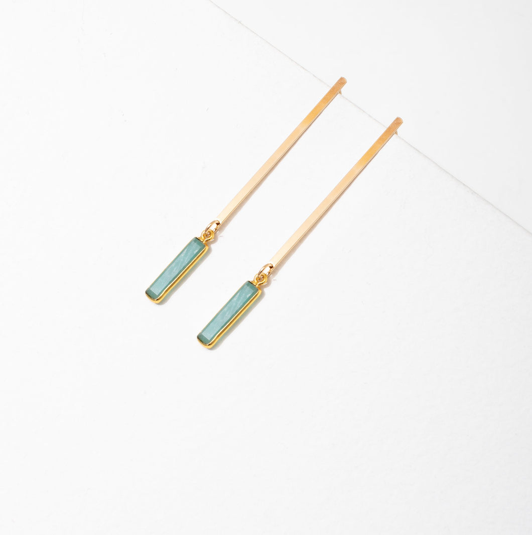 Larissa Loden Sydney Earrings - Prehnite