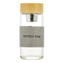 "Load image into Gallery viewer, Glass Water Bottle Infuser - ""Sereni-Tea"""