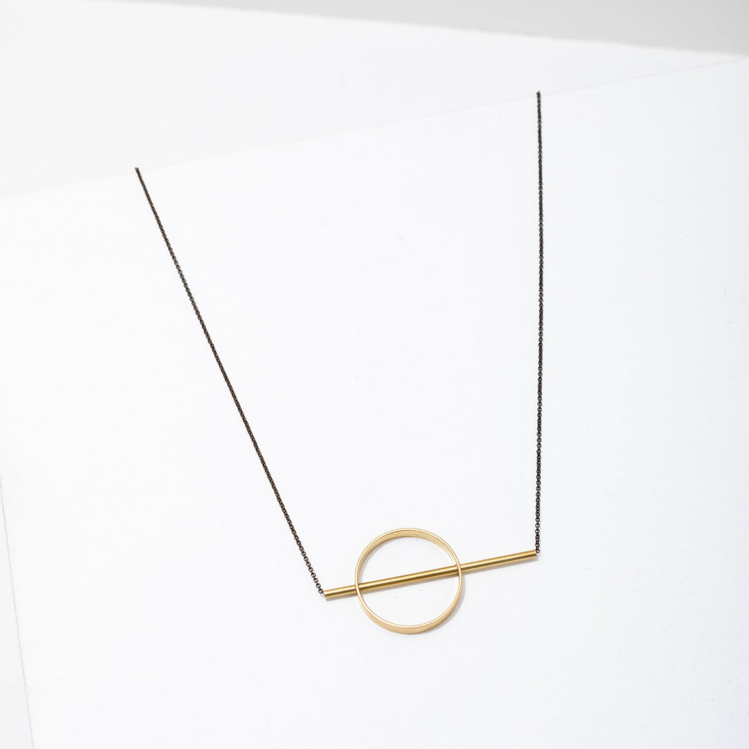 Larissa Loden Hypatia Necklace - Simple Brass