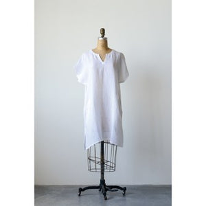 White Linen Shift Dress / Tunic