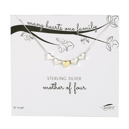 Mother of Four Sterling Silver Necklace