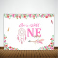 """Wild ONE"" -GIRL BIRTHDAY PARTY BACKDROP FOR PHOTOGRAPHY 1ST FIRST PINK BANNER GIRL  KIDS EVENT CAKE TABLE DECOR HOME DECORATION PHOTO BOOTH BACKGROUND"