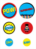 Super Heroes  - Birthday Giant Circle Confetti -Party Decorations - Large Confetti - Pack of 27