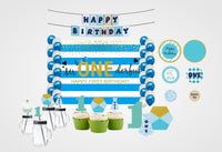 Complete Combo Kit -Fun Is One Decoration Kit With Backdrop And Decorations