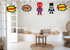Super Hero Theme  Hanging Set for decoration - Set of 12