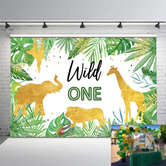 """WILD ONE"" BIRTHDAY PARTY BACKDROP FOR PHOTOGRAPHY BANNER KIDS EVENT CAKE TABLE DECOR HOME DECORATION PHOTO BOOTH BACKGROUND"