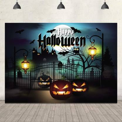 HALLOWEEN PARTY BACKDROP FOR PHOTOGRAPHY BANNER EVENT CAKE TABLE DECOR HOME DECORATION PHOTO BOOTH BACKGROUND